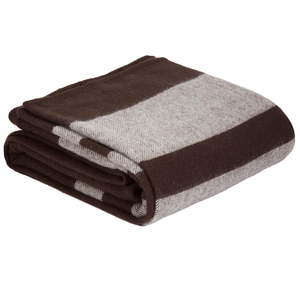 Brown Australian Wool Twin Blanket