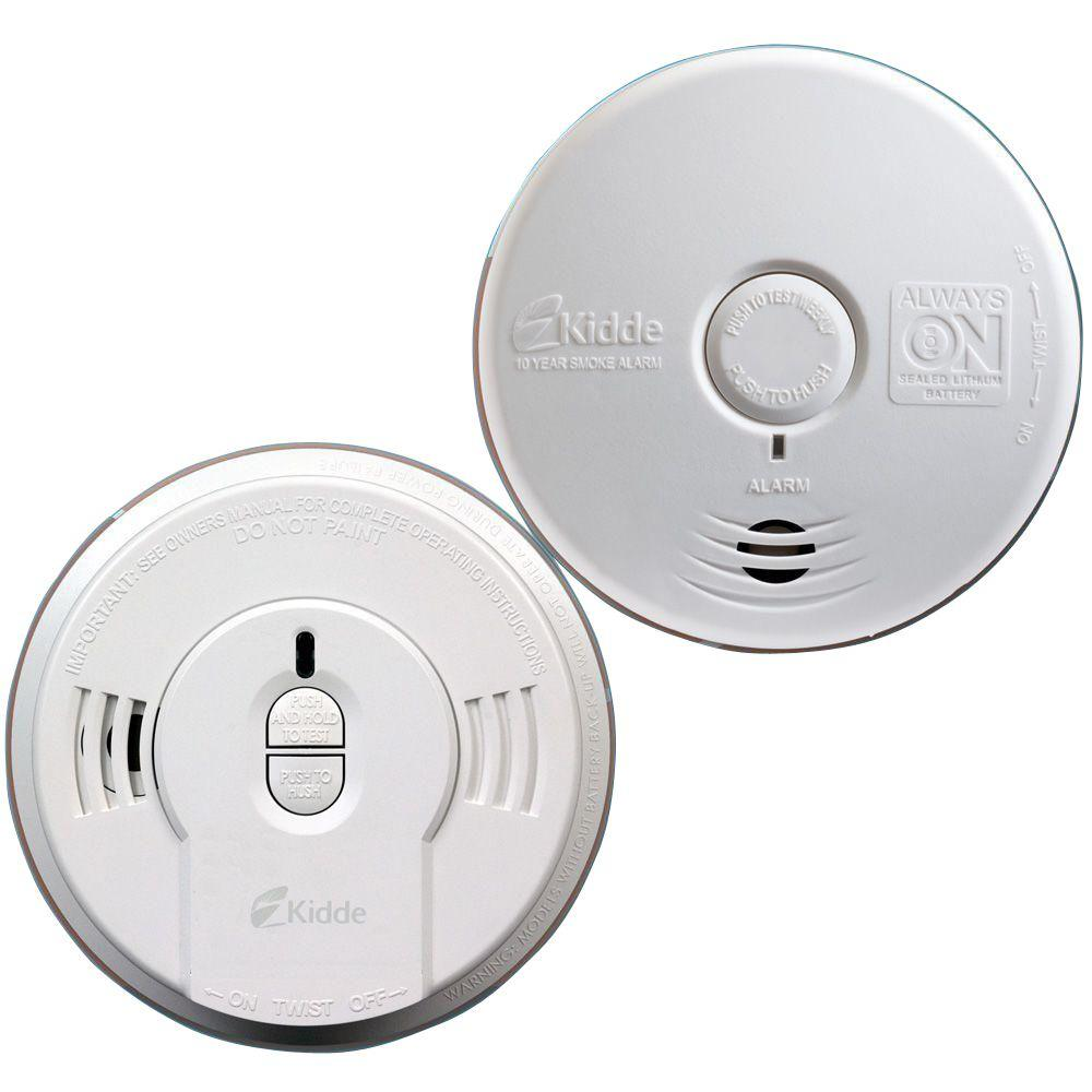 Kidde 10-Year Battery Operated Twin-Pack Ionization and Photoelectric Smoke Alarm