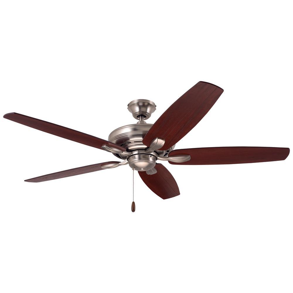 Ashland 52 in. Brushed Steel Ceiling Fan
