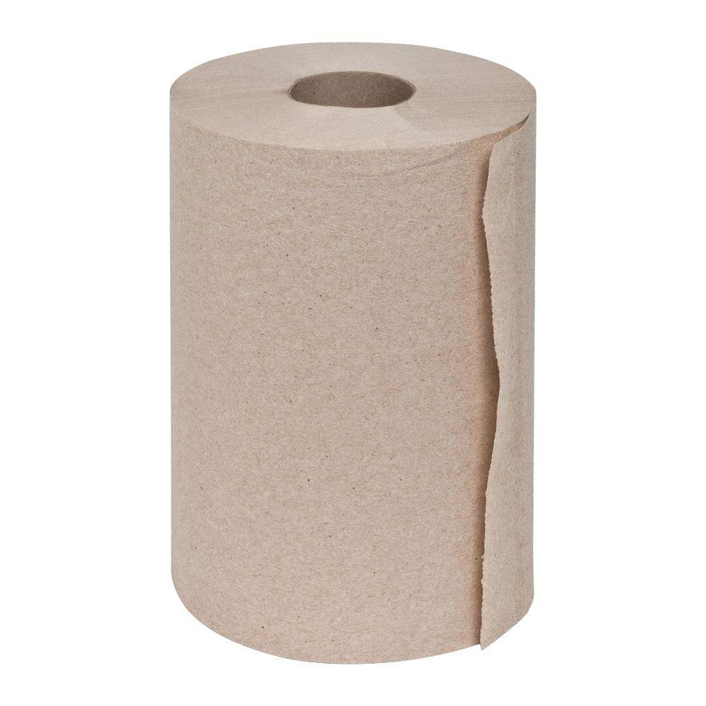 Genuine Joe Embossed Hard-Wound Roll Towels (12 Rolls)