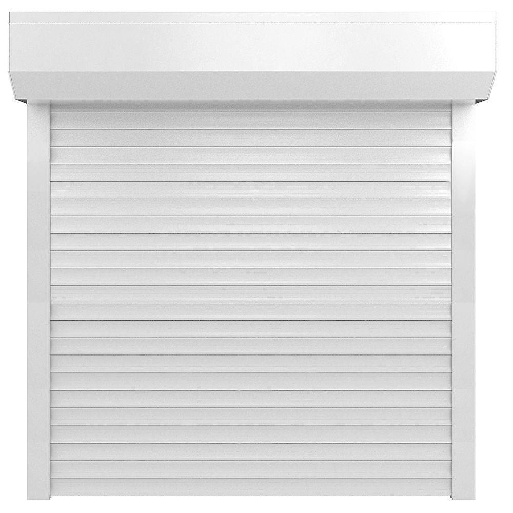 null 41 in. x 69.5 in. White Electric Roll Down Hurricane Shutter-DISCONTINUED