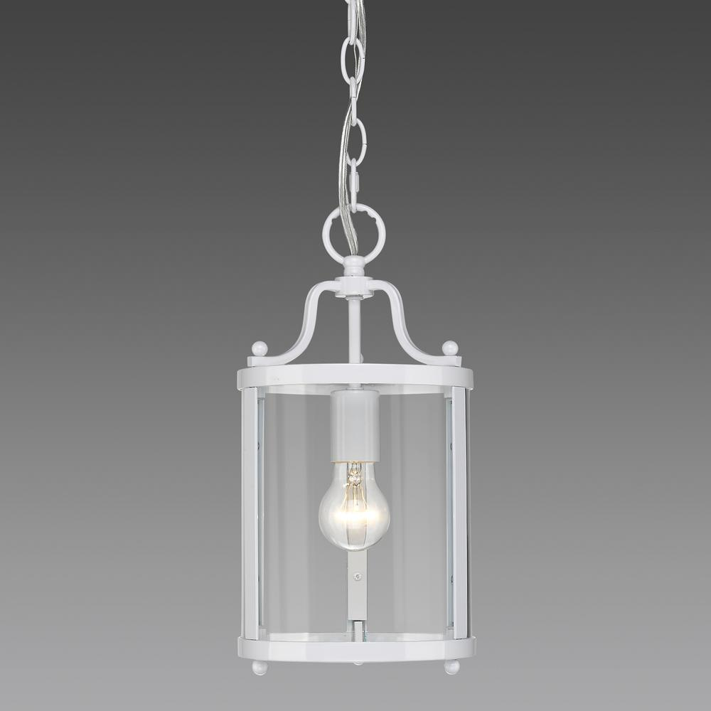 Payton 1-Light White Pendant Light