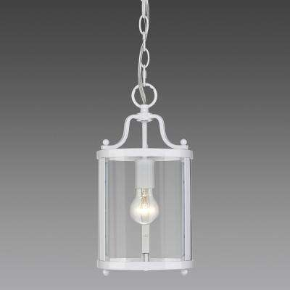 Payton 1-Light White Pendant Light