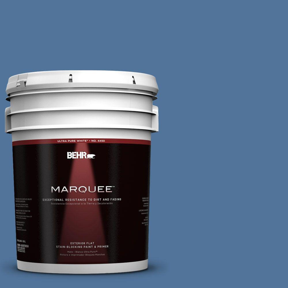 BEHR MARQUEE 5-gal. #580D-6 Liberty Flat Exterior Paint