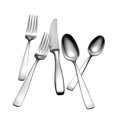 Bolo 42-Piece Flatware Set in Silver Stainless Steel