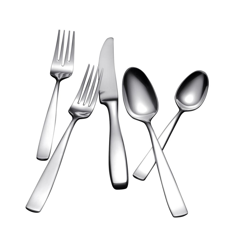 Yamazaki Bolo 42-Piece Flatware Set in Silver Stainless S...
