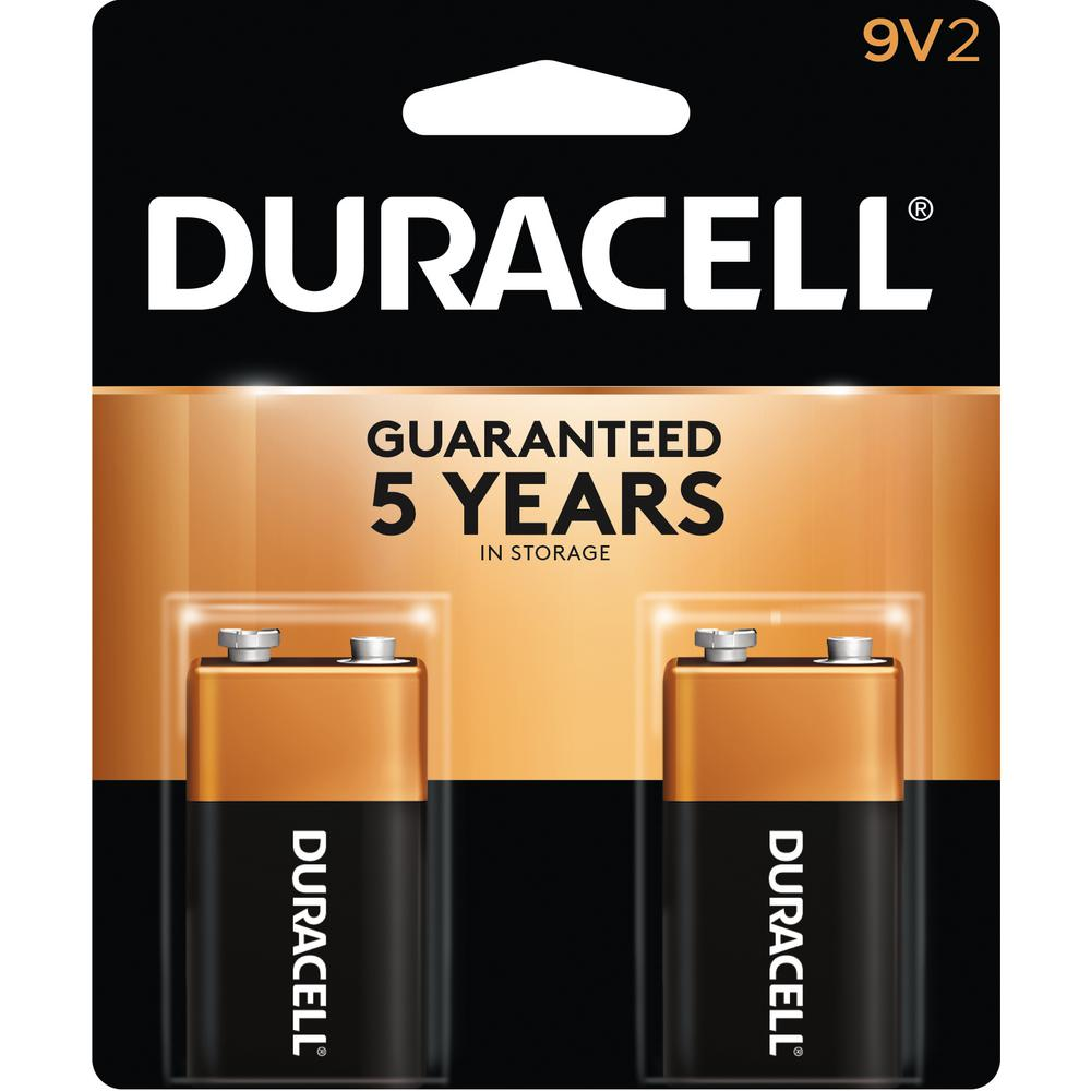 Duracell Coppertop Alkaline 9-Volt Battery (2-Pack)