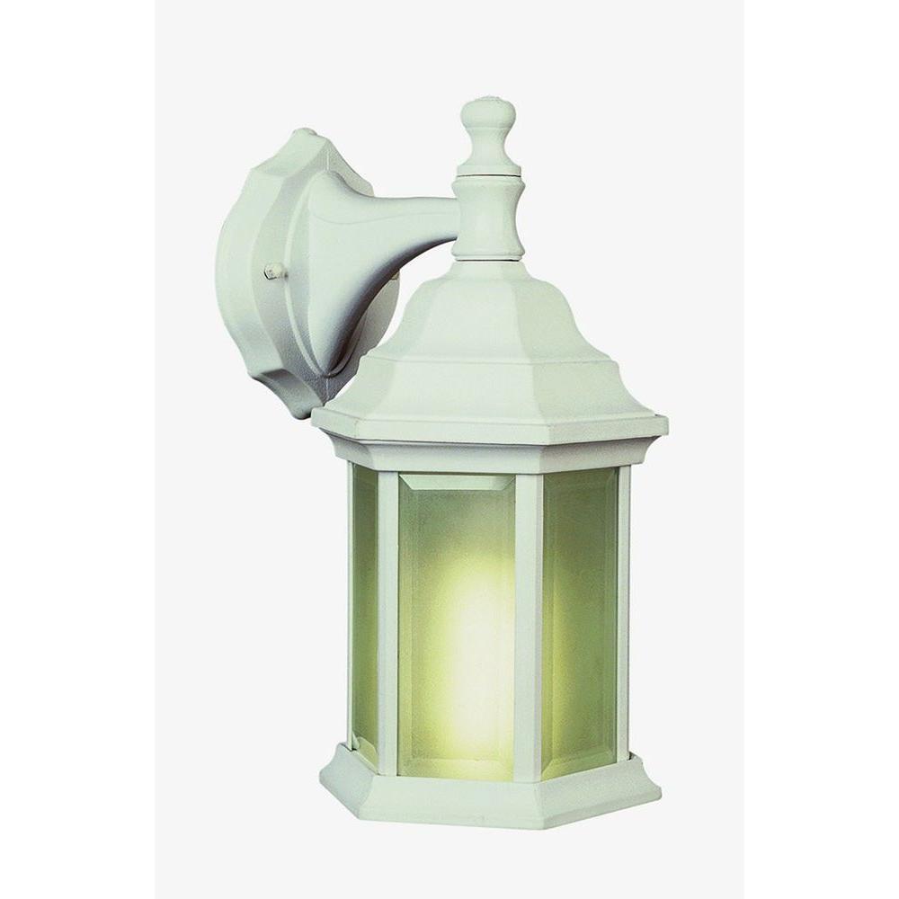 Bel Air Lighting Stewart 1-Light White Outdoor CFL Wall Lantern