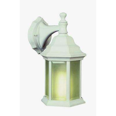 Stewart 1-Light White Outdoor CFL Wall Lantern