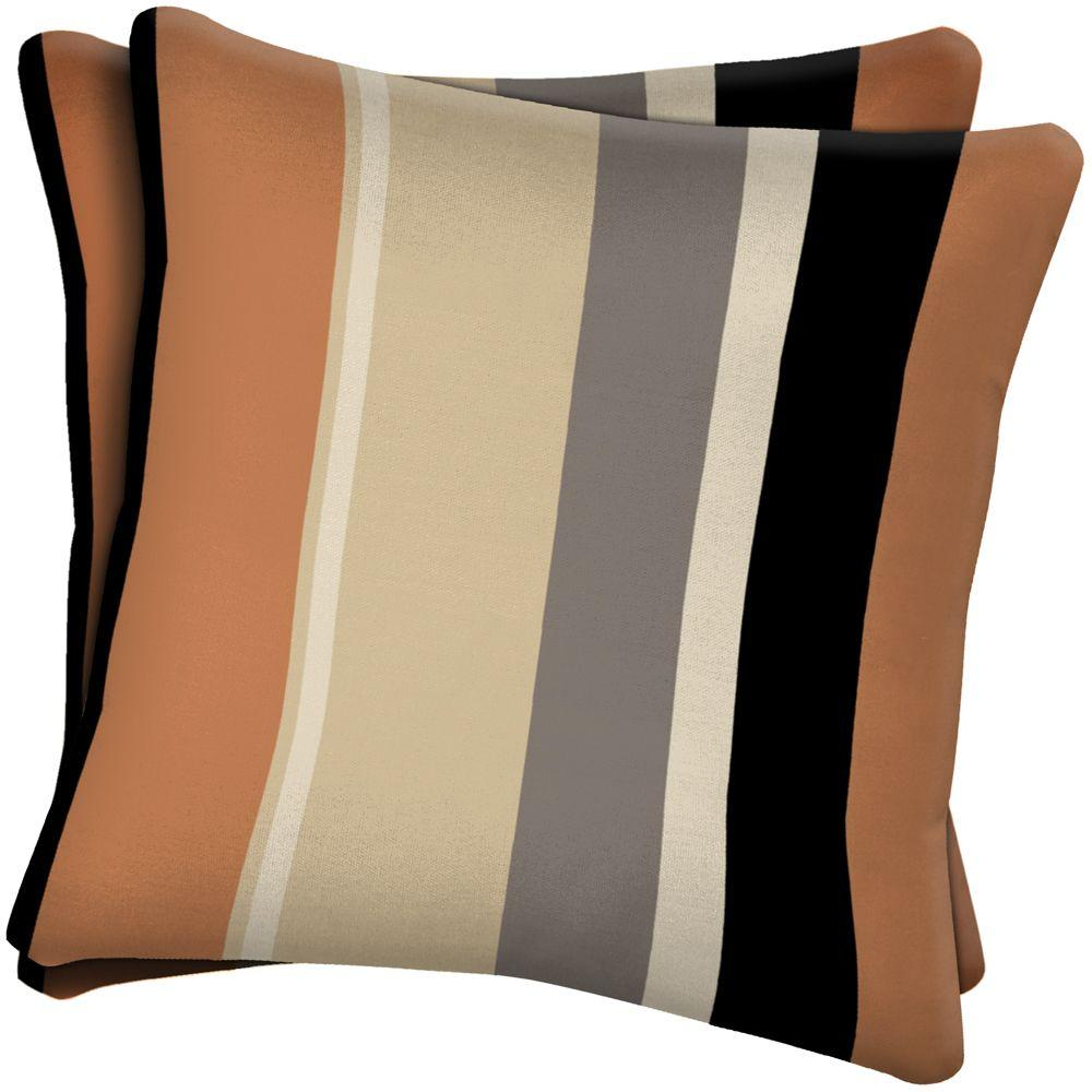 Arden Holden Stripe Pawn Outdoor Throw Pillow (2-Pack)-DISCONTINUED