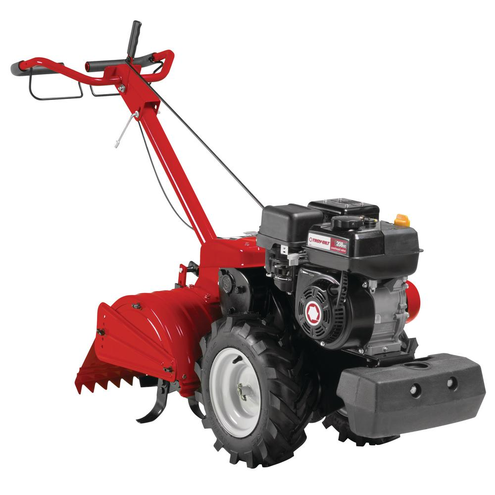 Troy-Bilt Mustang 18 in  208 cc Gas OHV Engine Rear-Tine Tiller with  Forward-Rotating and Counter-Rotating Tilling Options