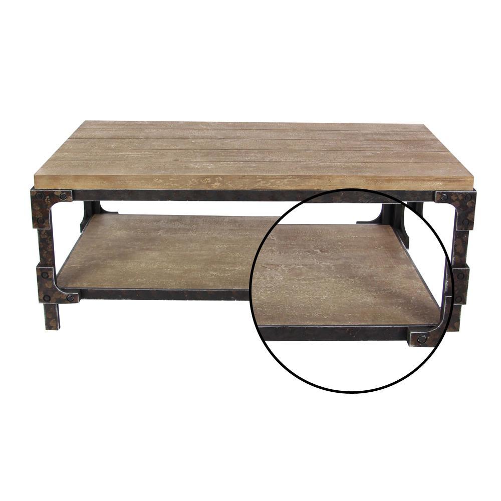 Litton Lane 2 Shelf Wooden Coffee Table