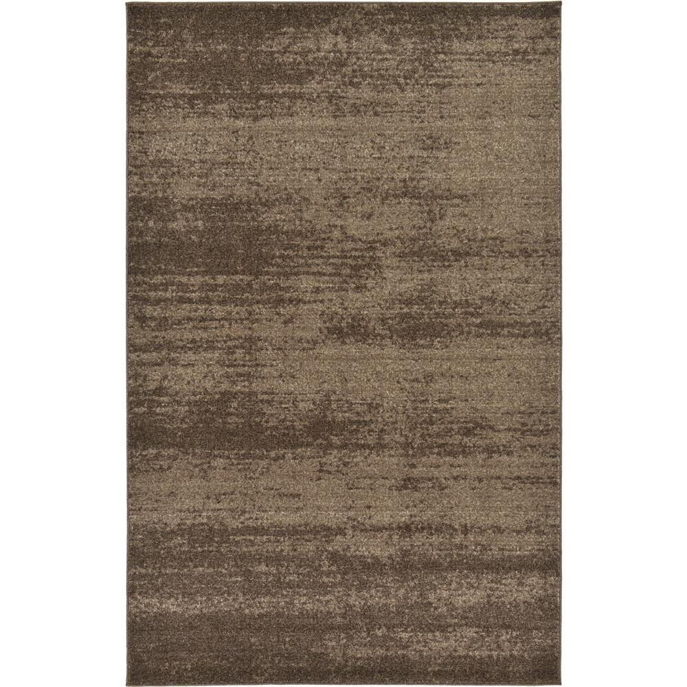 Uniquely Modern Rugs: Unique Loom Modern Del Mar Brown 5 Ft. X 8 Ft. Area Rug