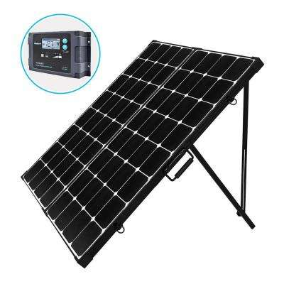 200-Watt Eclipse Monocrystalline Portable Suitcase Off-Grid Solar Power Kit with Voyager Waterproof Charge Controller