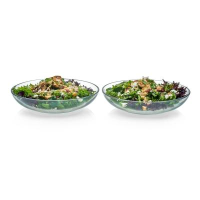 Selene 2-piece, 12 in. Glass Serving Bowl Set
