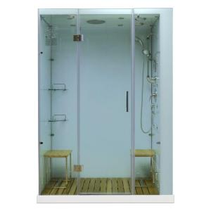 Steam Planet Orion 59 inch x 32 inch x 86 inch Steam Shower Enclosure in White by Steam Planet