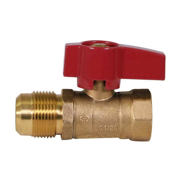 1/2 in. Flare x 1/2 in. Brass FIP Gas Ball Valve