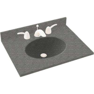 Ellipse 19 in. Solid Surface Vanity Top in Night Sky with Night Sky Basin