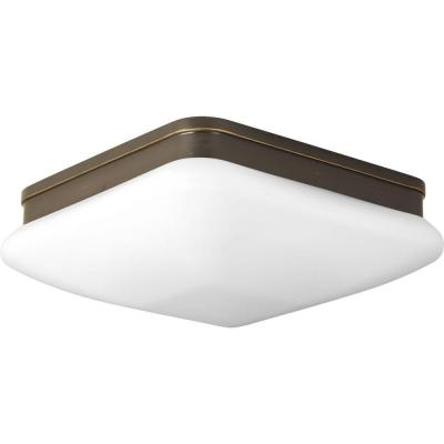 Appeal Collection 2-Light Antique Bronze Flush Mount with Opal Etched Glass