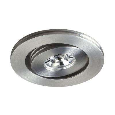 Alpha Collection 1-Light Brushed Aluminum Multi-Directional LED Button Light