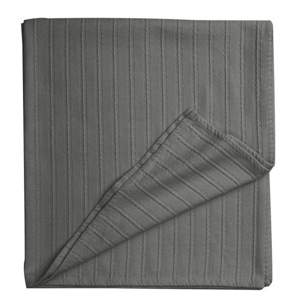 Legends Egyptian Cotton Gray Smoke Queen Woven Blanket