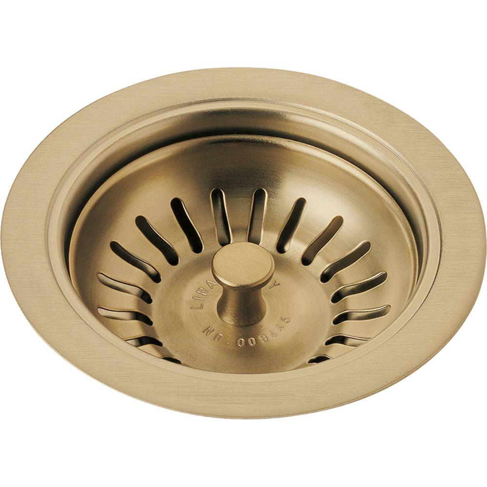 Delta 4-1/2 in. Kitchen Sink Flange and Strainer in Champagne Bronze