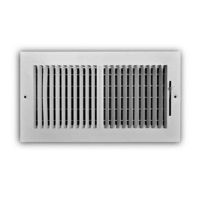 12 in. x 6 in. 2-Way Aluminum Wall/Ceiling Register