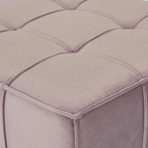 Groovy Sheldon Mauve Fabric With Coffee Wooden Legs Tufted Ottoman Lamtechconsult Wood Chair Design Ideas Lamtechconsultcom