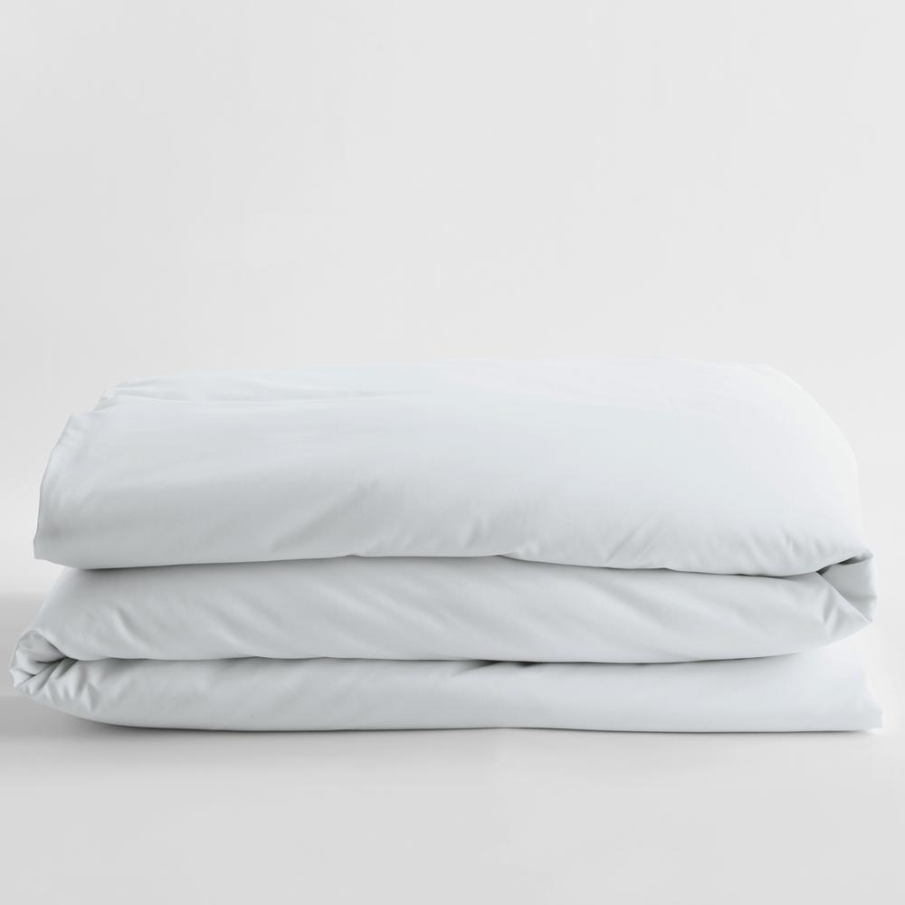 Company Cotton White Solid 300 Thread Count Wrinkle-Free Sateen Twin Duvet Cover