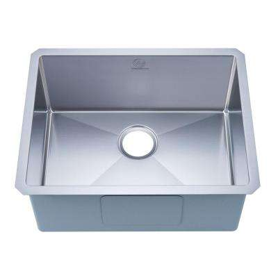 NationalWare Undermount Stainless Steel 23 in. Single Bowl Kitchen Sink in Stainless Steel