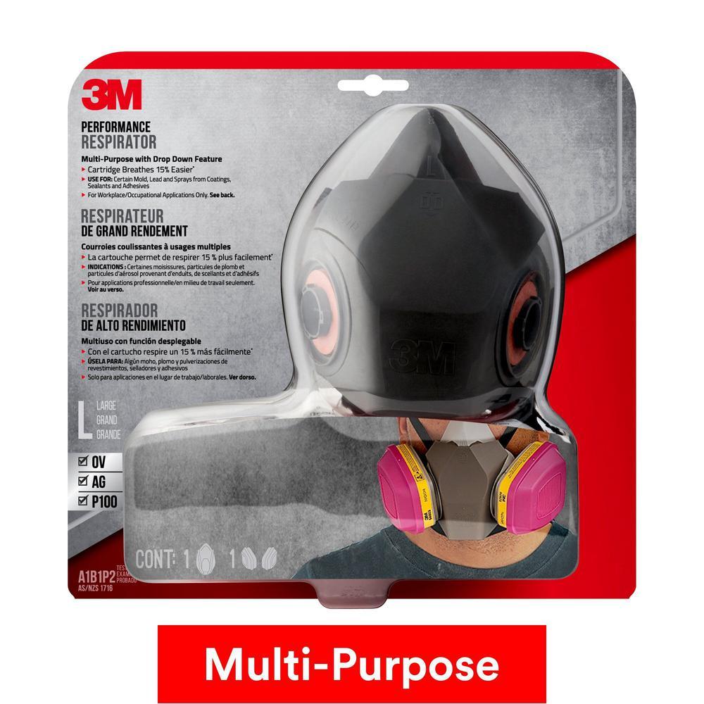 3M Professional Multi-Purpose Respirator Black Drop Down
