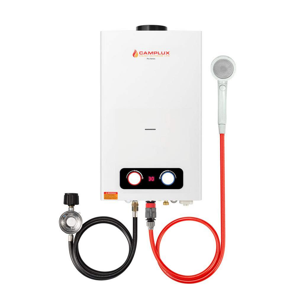 Camplux Pro 2.64 GPM 10 l Residential Outdoor Liquid Propane Portable Gas Tankless Water Heater