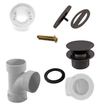 Illusionary Overflow, Sch. 40 PVC Plumbers Pack with Tip-Toe Bath Drain in Oil Rubbed Bronze