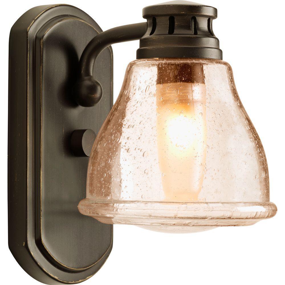 Progress Lighting Academy Collection 1 Light Antique Bronze Bath Light P2810 20wb The Home Depot