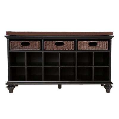 Sherman Black Storage Bench