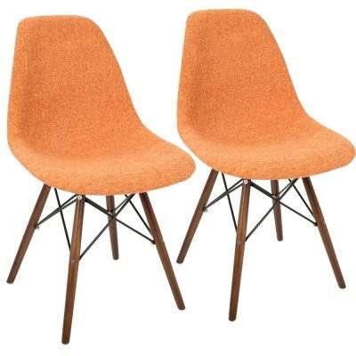 Brady Duo Orange Grey and Espresso Accent Chair (Set of 2)
