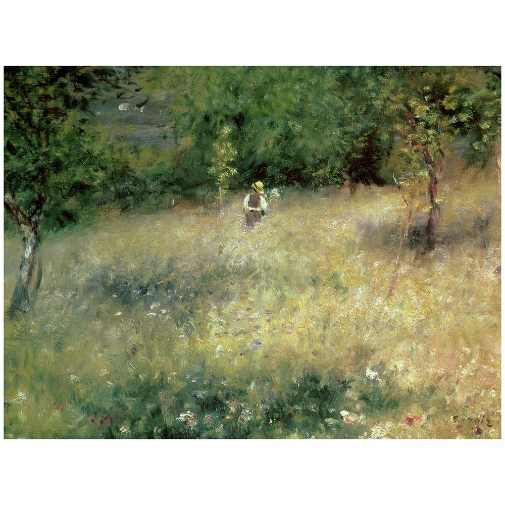 Trademark Fine Art 24 in. x 32 in. Spring at Chatou 1872-5 Canvas Art