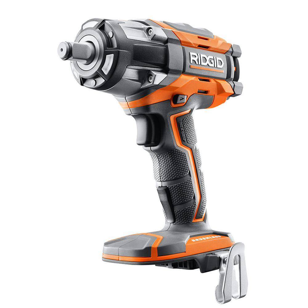 RIDGID 18-Volt Cordless Brushless 1/2 in. Impact Wrench (Tool-Only) with Belt Clip