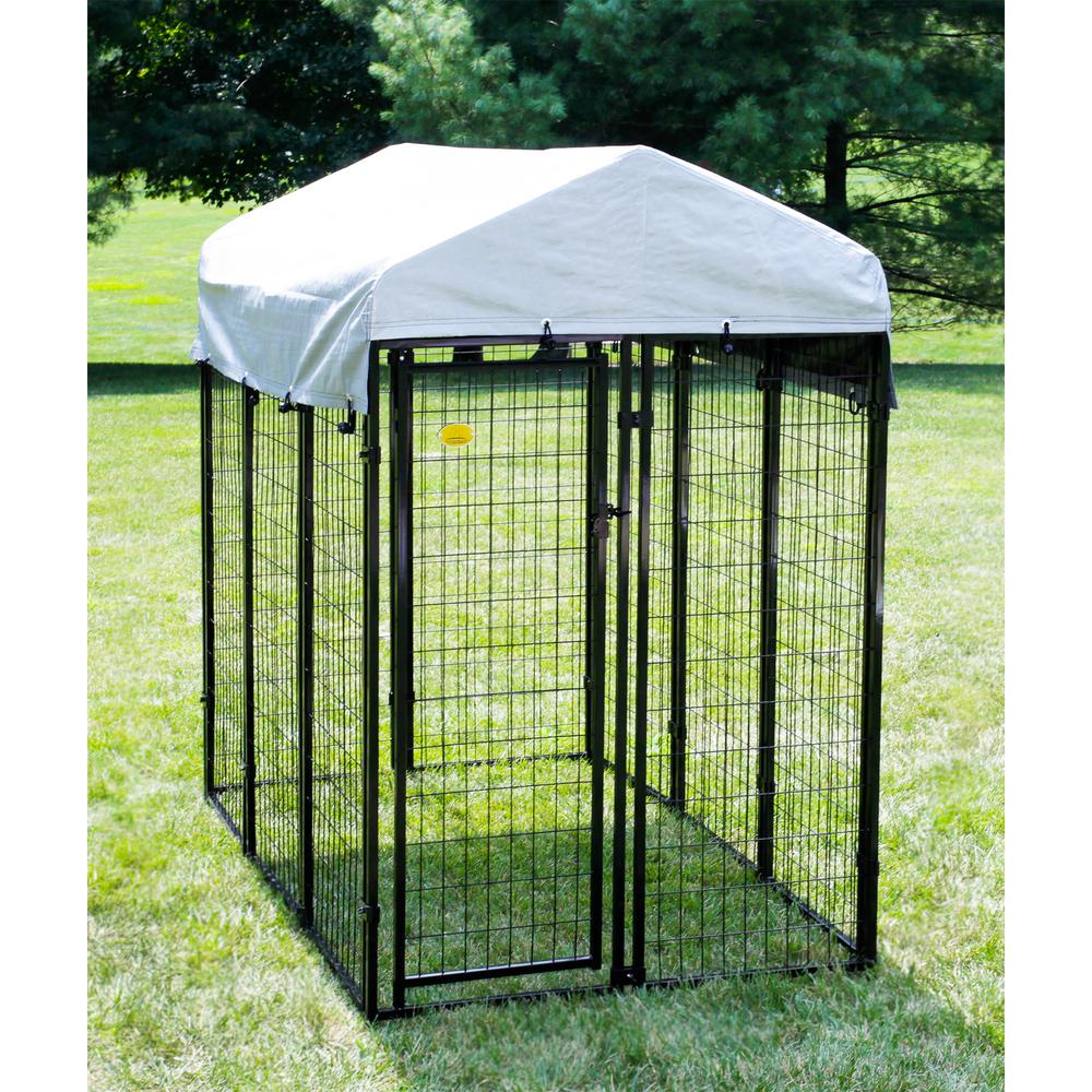 6 ft. x 4 ft. x 6 ft. Welded Wire Dog Fence Kennel Kit