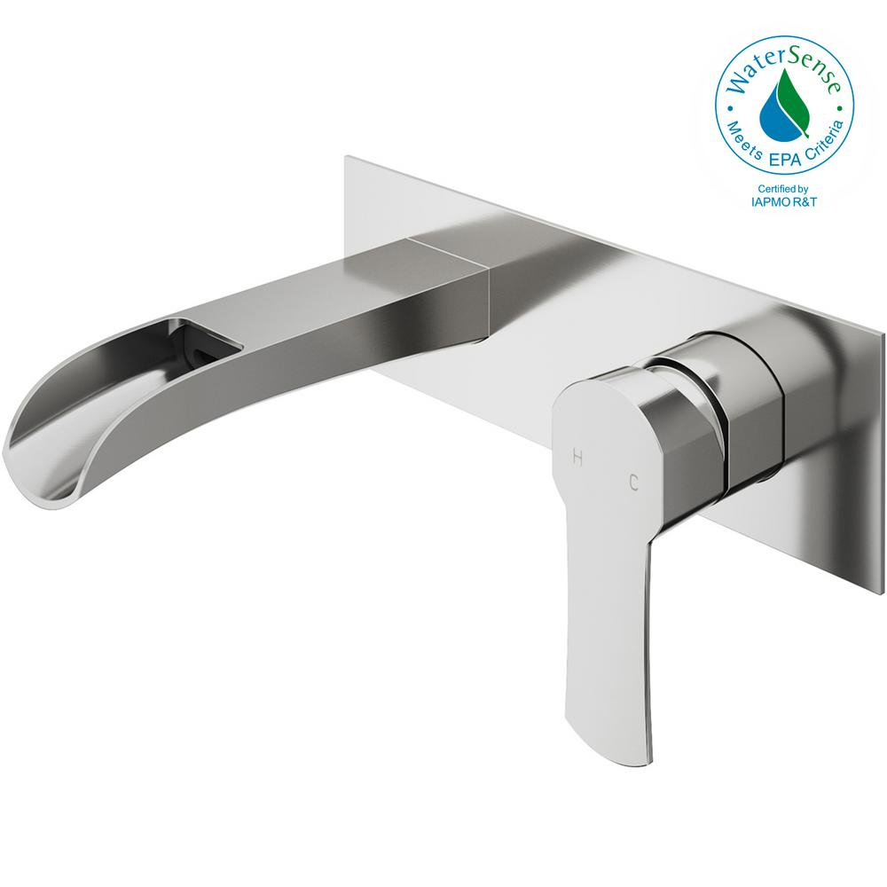 vigo bathroom faucets. VIGO Cornelius Single-Handle Wall Mount Bathroom Faucet In Brushed Nickel Vigo Faucets
