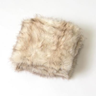 Champagne Fox Faux Fur Throw 54 in. x 36 In.
