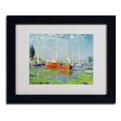 11 in. x 14 in. Argenteuil Matted Black Framed Wall Art