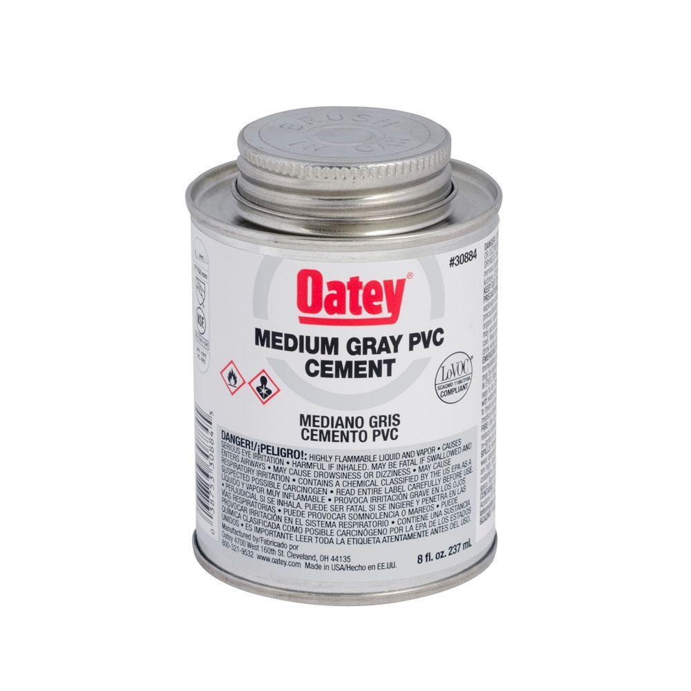 8 oz. PVC Medium Gray Cement