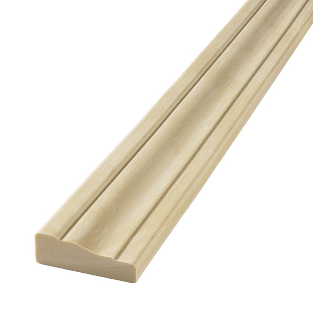 Exceptional Flex Trim. HD 356 11/16 In. X 2 1/4 In. X 60 In. Polyurethane 2/4 Flexible  Half Round Casing