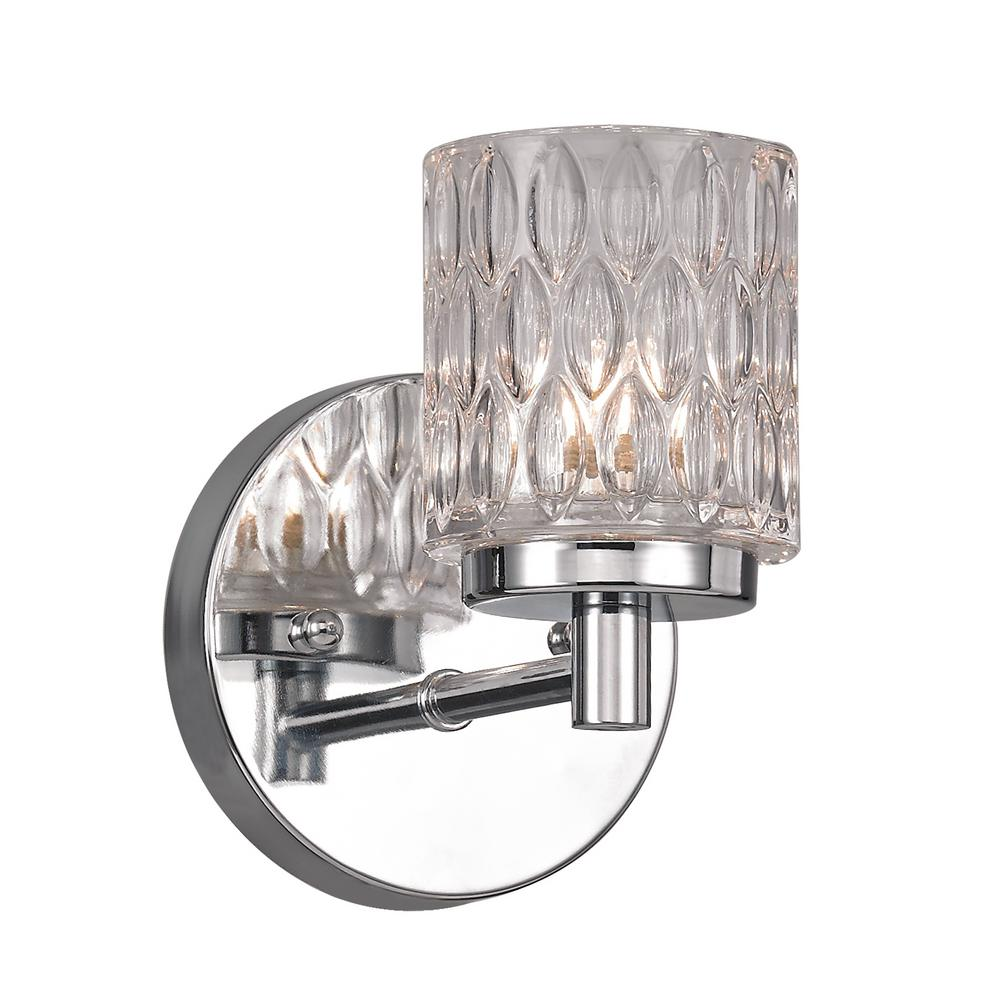Bayou 1-Light Polished Chrome Sconce
