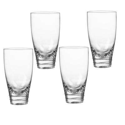 Helix Platinum 18 oz. Highball Glass (4-Piece Set)