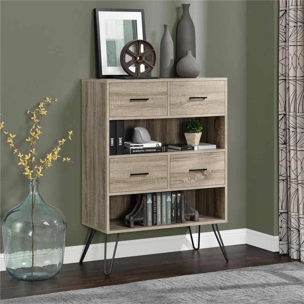 Great Altra Furniture Landon Light Sonoma Oak Bookcase