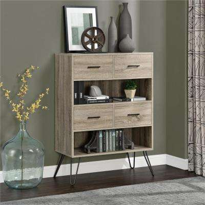 Landon Light Sonoma Oak Bookcase