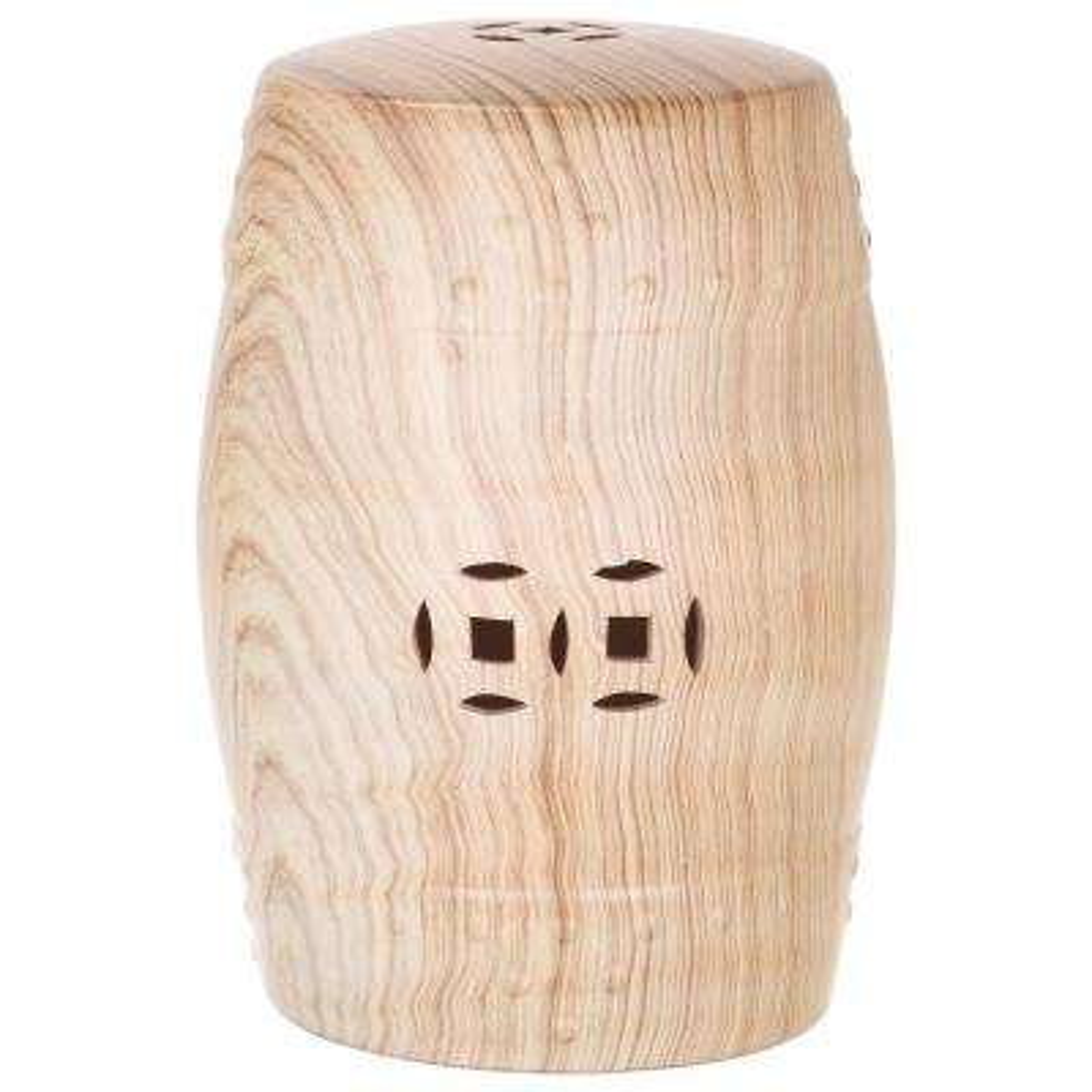 Ming Forest Light Oak Ceramic Garden Stool
