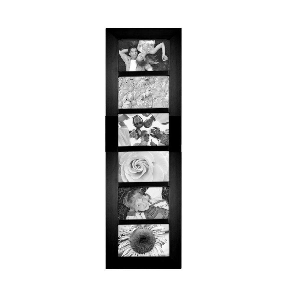 Home Decorators Collection Berkeley 6-Opening 4 in. x 6 in. Black Collage Picture Frame